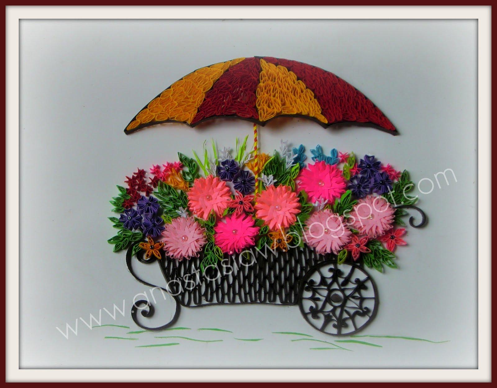 Anastasia Annie Wahalatantiri Cart Of Flowers