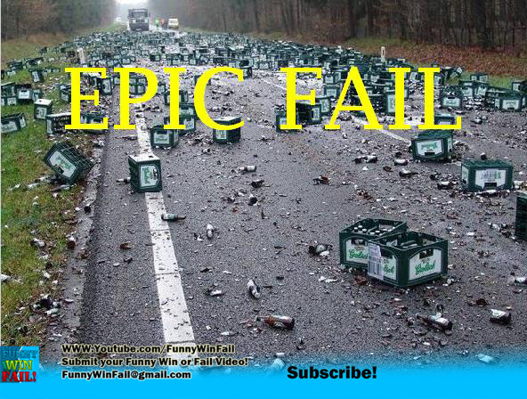 Epic Fail! Beer Everywhere!