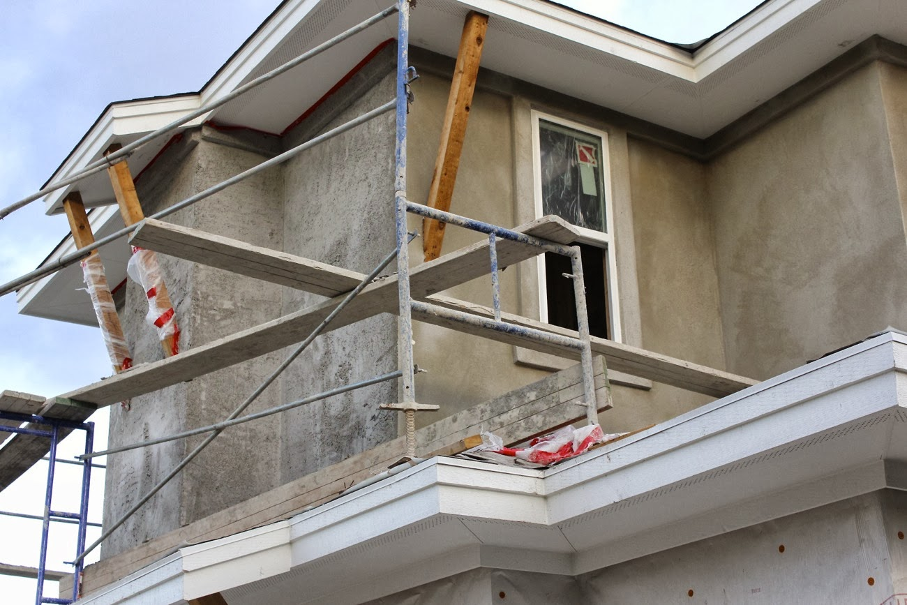Building a new home stucco shingles and a pretty paint - How fast does exterior paint dry ...