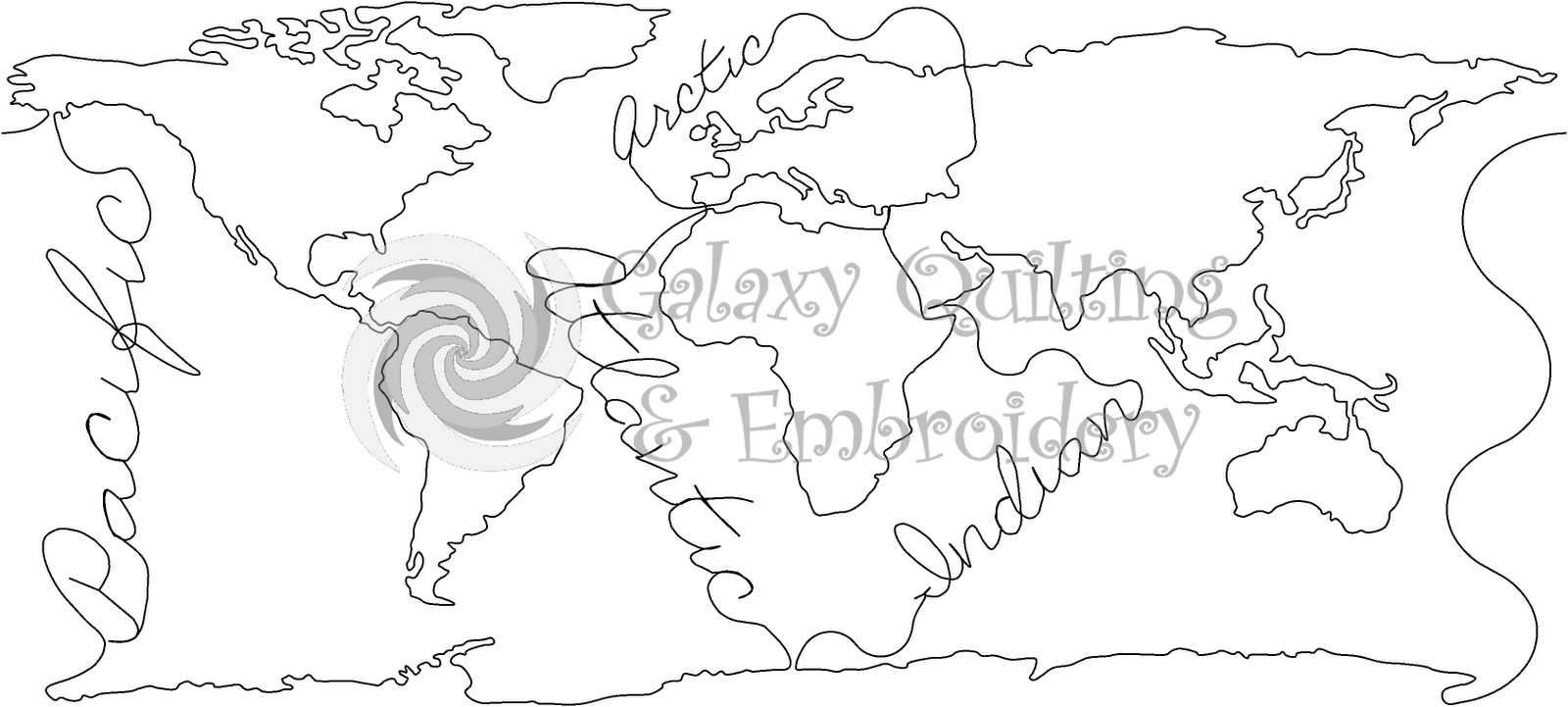 Map Coloring Pages For Kindergarten : On world oceans map coloring page for kindergarten