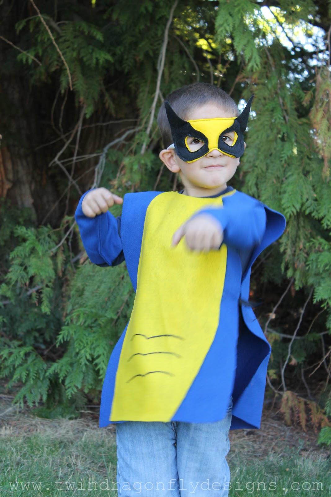 No sew super hero costumes tutorial dragonfly designs wolverine click solutioingenieria Gallery