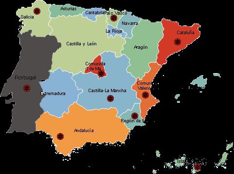 Wing Tsun Mapa Escuelas