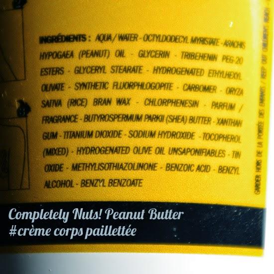 Completely Nuts Peanut Butter : avis sur la crème corps pailletée