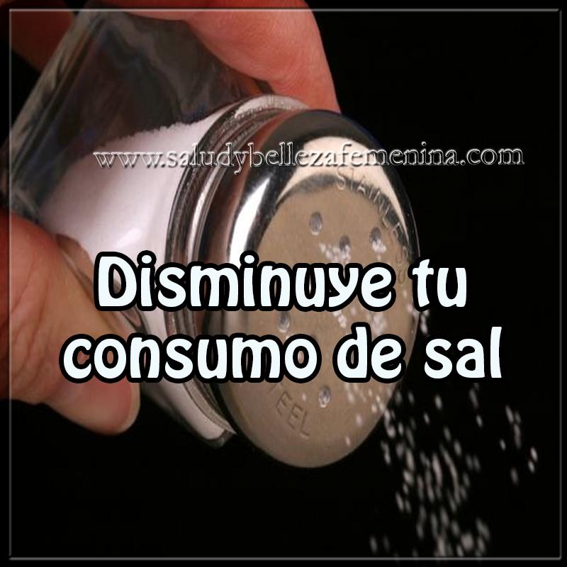 Salud y bienestar en cuerpo y mente,  disminuye tu consumo de sal ,