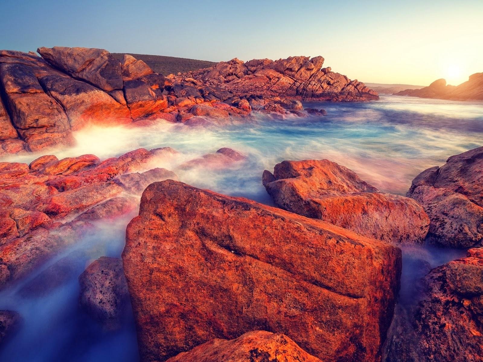Rocas océano Sun Australia