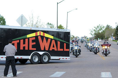 The Wall arriving in Fort Collins with Escort
