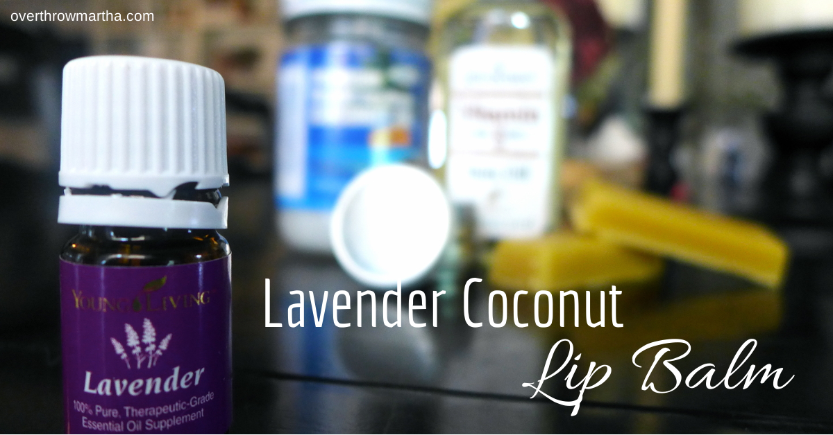 DIY Lavender Coconut Lip Balm is so easy to make! It's great for gifts and bridal shower favors, too!
