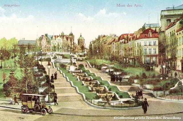 Monts des Arts - Bruxelles disparu - Né en 1910 -  Disparu en 1955 - Bruxelles-Bruxellons