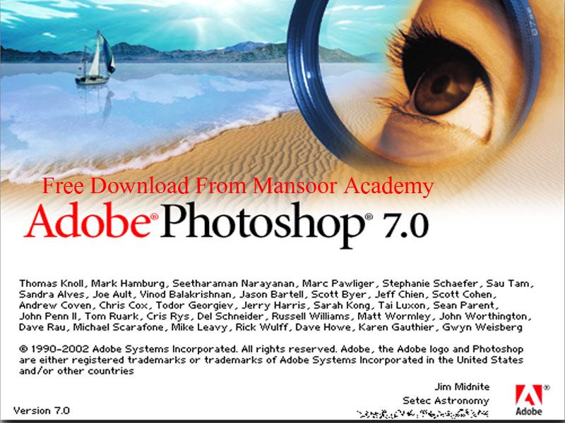 Free downlaod adobe photoshop 7.0 with serial key ...