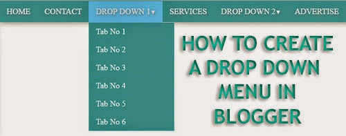 How to Create a Drop Down Menu in Blogger