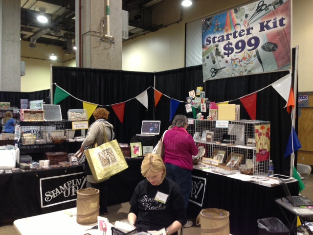 Stampintx Our Stampin Up Booth At The Scrapbook Expo Grapevine 2013