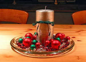 Centers Christmas table with Spheres, Part 2