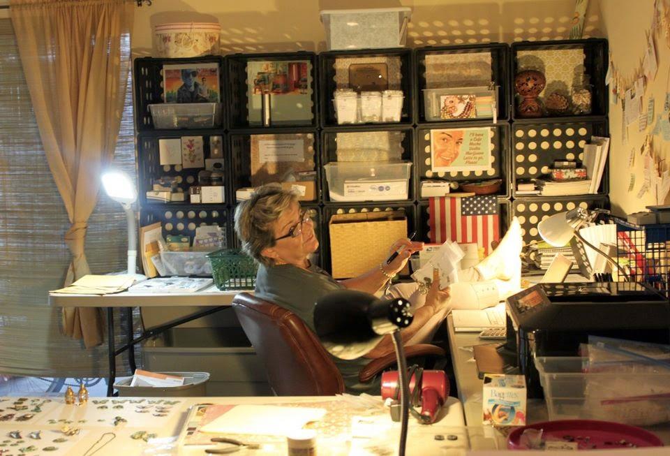 Rachael Barrett in her artist studio