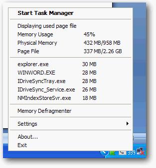 mengetahui program yang menggunakan memory usage