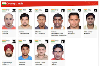 Athletes of the Indian contingent for 2012 London Paralympic Games