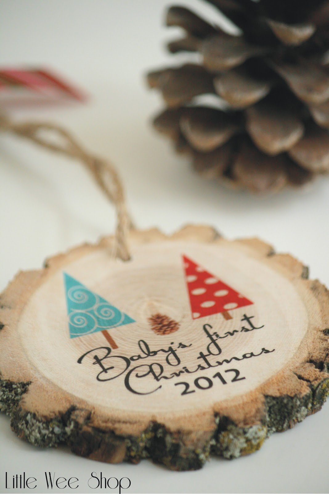 Christmas ornaments for baby - Little Wee Shop Personalized Christmas Ornaments For Your Baby