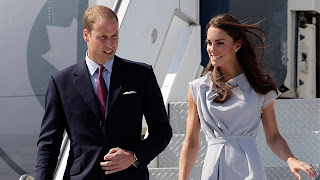 Prince William and Kate, the Duke and Duchess of Cambridge, arrive at Los Angeles International Airport in Los Angeles on Friday, July 8, 2011.