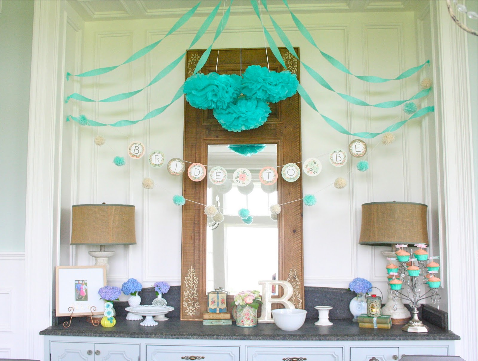 Nesting in the bluegrass bridal shower ideas for At home wedding decoration ideas