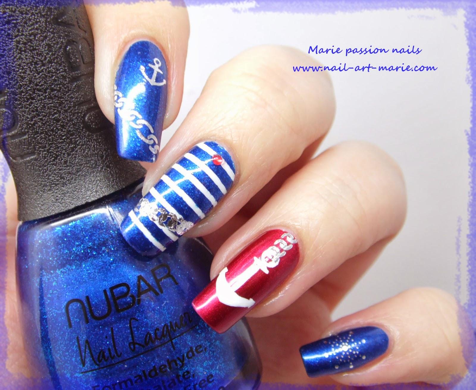 Nail art marin5