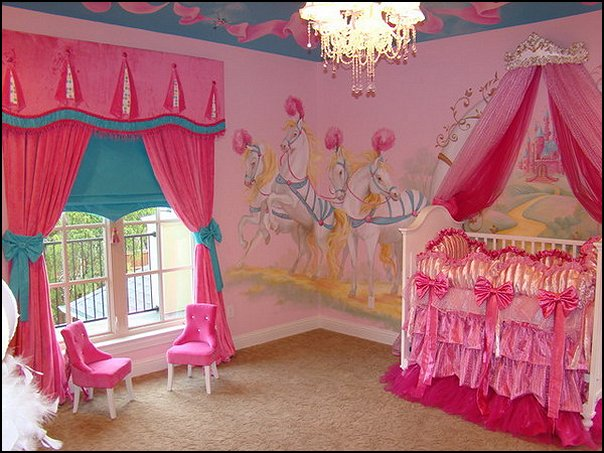 Princess Theme Baby Nursery Decorating Ideas