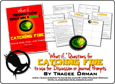 Catching Fire Creative and Critical Thinking Prompts www.hungergameslessons.com