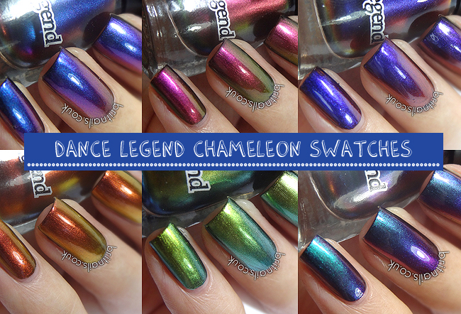 Dance Legend Chameleon Collection Swatches And Review