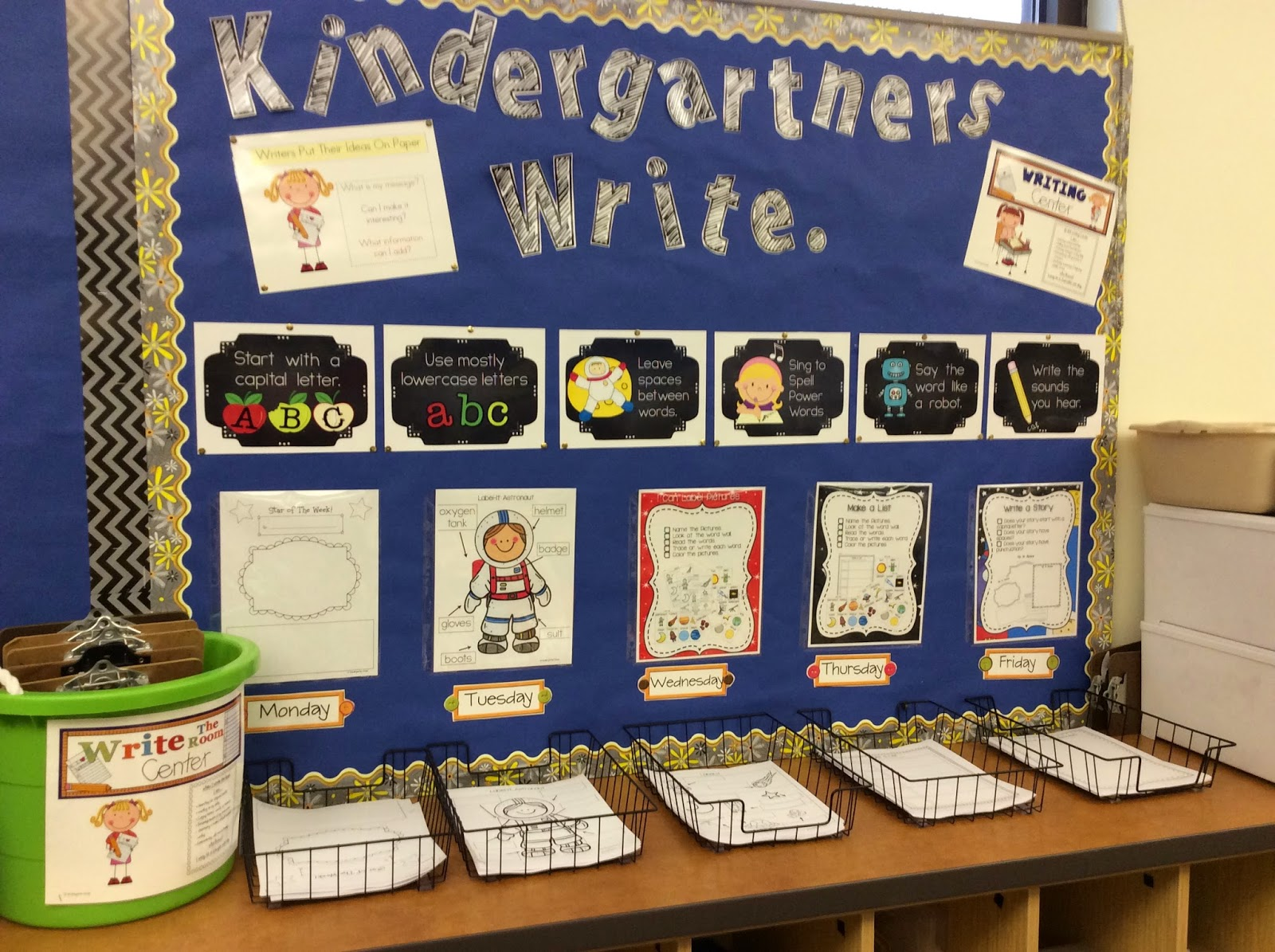 kindergarten writing center Start students' literary careers off right with kindergarten writing activities that not only provide a solid foundation in spelling and grammar, but also inspire a.