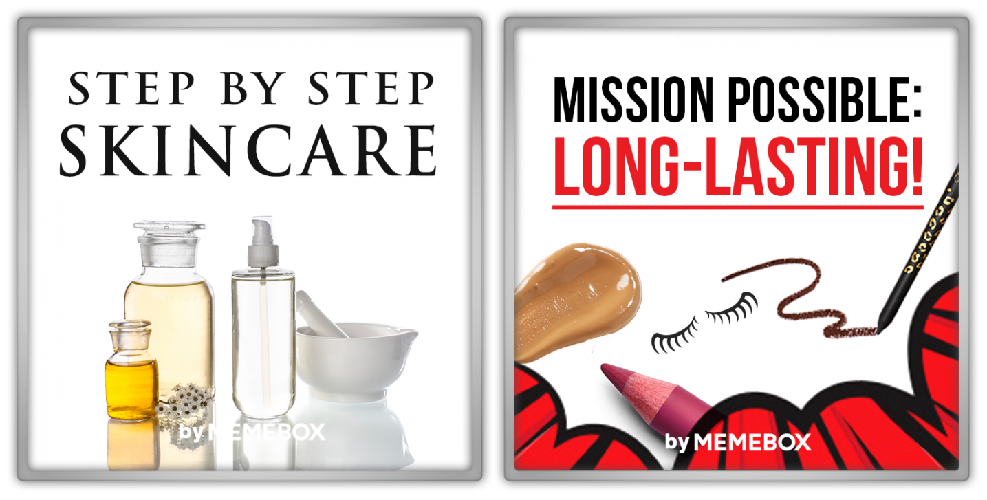 Memebox Special #50 Step-By-Step Skincare Superbox #68 Mission Possible Long-Lasting valueset banner 미미박스 Commercial
