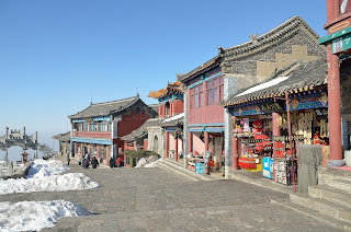 Shops at the top of Taishan in Shandong Province