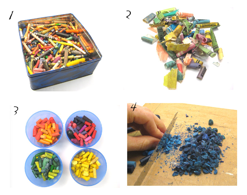 how to make new crayons out of old crayons