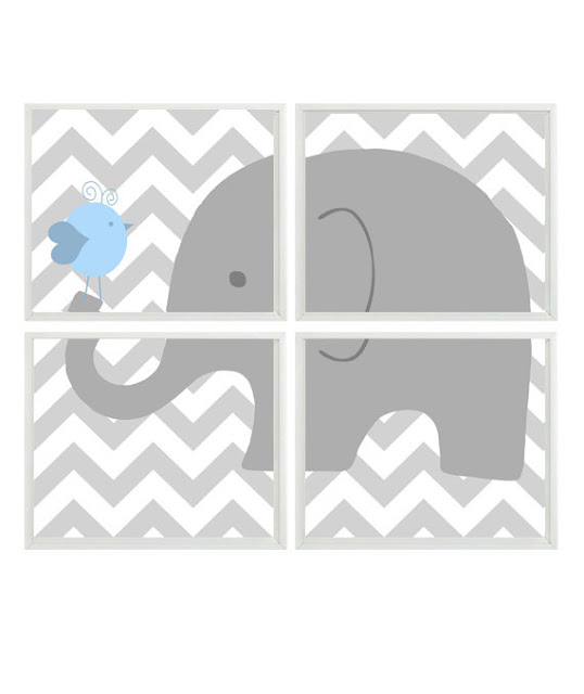 The Funky Monkey: Rizzle and Rugee: Jungle Chevron Nursery Art Set {Giveaway}
