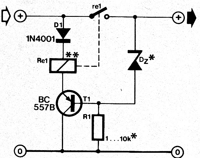 wiring schematic diagram  zero drop diode circuit for