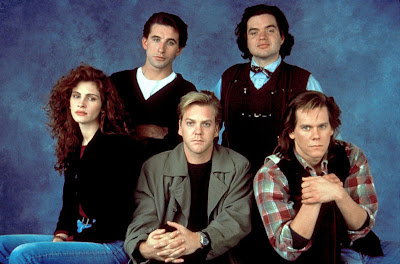 Flatliners stars Julia Roberts, Kiefer Sutherland, Kevin Bacon, William Baldwin and Oliver Platt