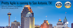 Join me in San Antonio, Texas for SAFe Release Train Engineer, 9th to 11th Jan 2018