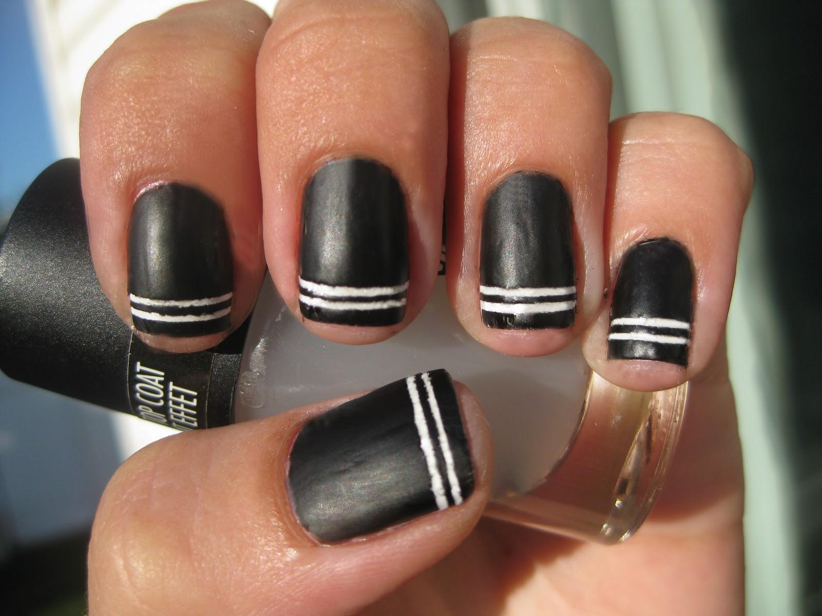 Nail Narcotics!: Black & White/Shiny & Matt