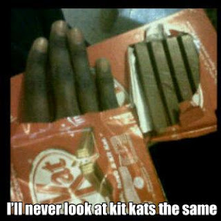 kit kat looks like fingers