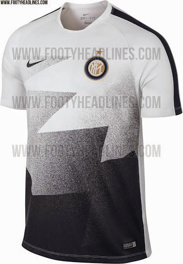 gambar berita bocoran jersey prematch Inter milan terbaru musim depan 2015/2016 kualitas grade ori made in thailand