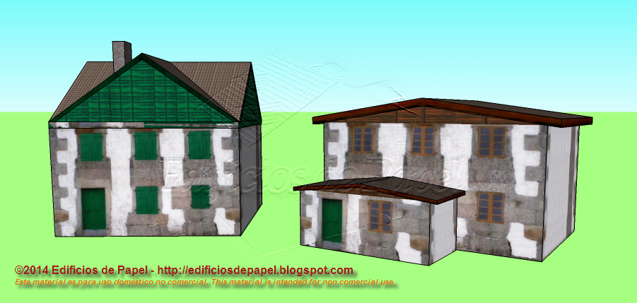 County house paper models