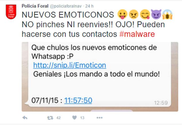 """Mucho cuidado con el mensaje de """"los nuevos emoticonos de WhatsApp"""", es un timo"""