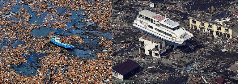 3)Разрушительные последствия наката и отката цунами.