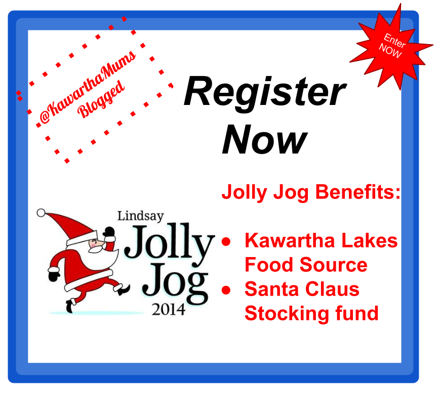 Kawartha Lakes Events- 2014 Lindsay Jolly Jog Supports KAwartha Lakes Charities: Kawartha Lakes Food Source and Santa Claus Stocking Fund