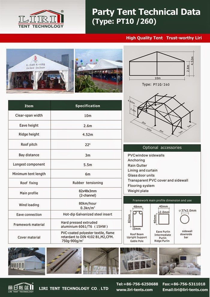 Large Party Tents for Sale from China LIRI Tent Manufacturing