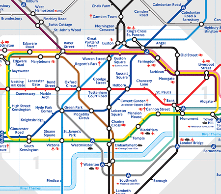 London Tube Subway Map