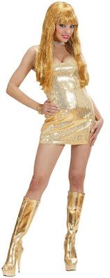 Sidste skoledag kjole i guld