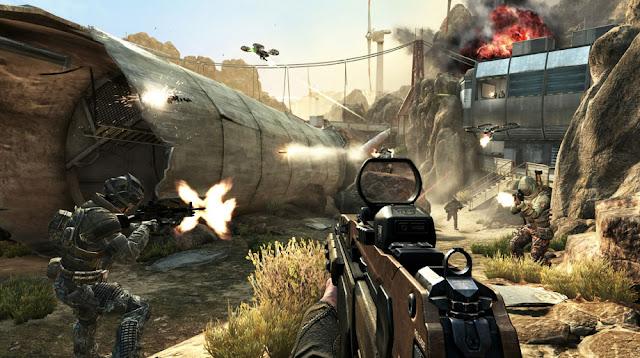 Fallen turbine tower in Call of Duty: Black Ops 2