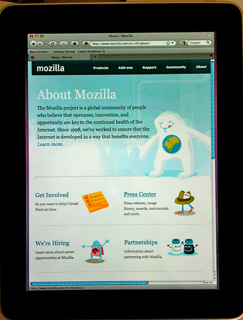 Mozilla Firefox for iPad 2