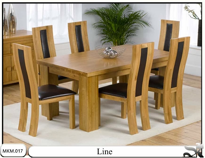 Meja dan kursi makan minimalis set Line