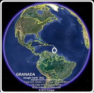 Mapa de GRANADA en el Mundo, Google Earth
