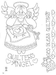 Desenhos Para Pintar quilte's angel