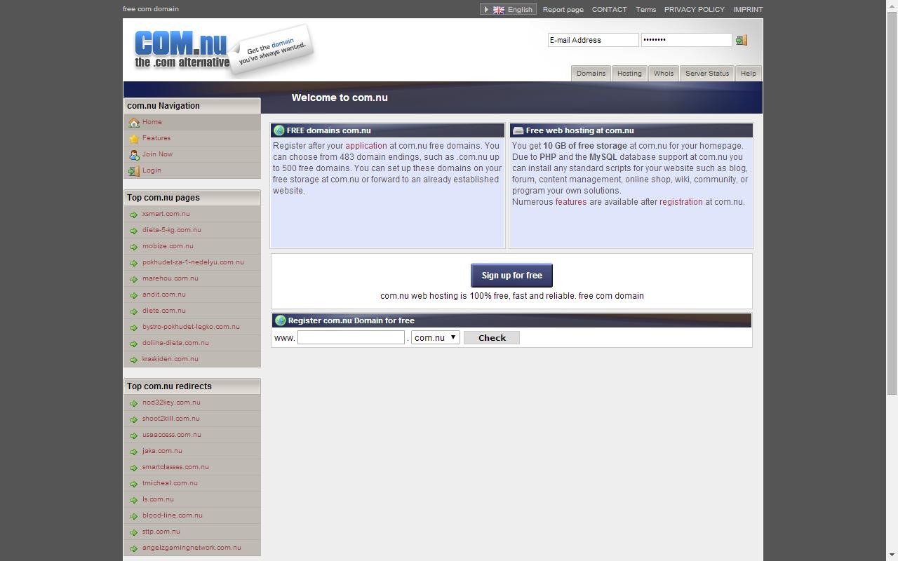 Com.nu free domain name